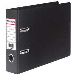 Папка-регистратор 70мм. BRAUBERG формат А5, ПВХ  черная (223190)