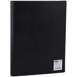 Папка с пластиковым скоросшивателем СПЕЙС 15мм, 500мкм, черная, (ППС-ПС 555)