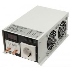 Преобразователь 12в-220в 1500вт ИС-12-1500У/чистый синус, защита от КЗ, перегрузки, -40..+40°C