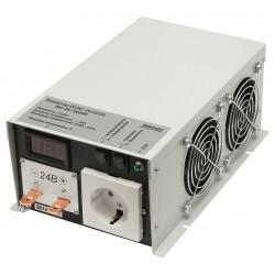 Преобразователь 24в-220в 1500вт ИС-24-1500У/чистый синус, защита от КЗ, перегрузки, -40..+40°C