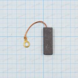 Щетка графитовая 5x10x30мм, провод, клемма круглая под винт 4мм