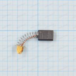 Щетка графитовая 6x10x15мм, пружина, пятак круглый со скосоми 11,5мм