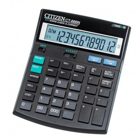 Калькулятор CITIZEN CT-666N 12 разр. черный