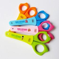 Ножницы 12см. DELI детские, в футляре, ассорти (6029)