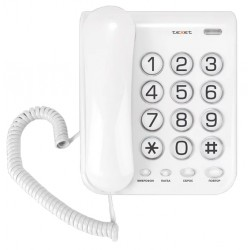 Телефон Texet TX-262 светло-серый (повторн.набор/тон.набор/настен.установка/удержание линии)