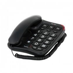 Телефон Texet TX-214 черный повторн.набор/тон.набор/отключение микрофона/память 13 номеров/световая индикация вызывного сигнала