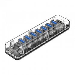 USB Хаб 7xUSB 3.0 ORICO F7U-U3-CR прозрачный