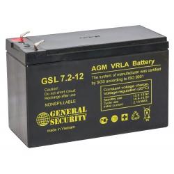 Аккумулятор GSL 7,2-12 12V,7,2,Ah F1 KL (в94+6/д151/ш65)