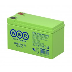 Аккумулятор WBR GPL1272 12V,7Ah,F2, (в94+6/д151/ш65)