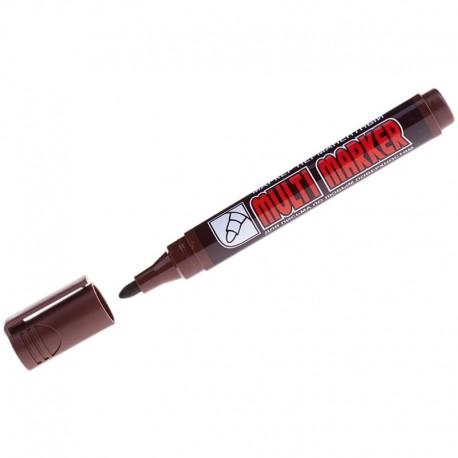 Маркер перманентный CROWN CPM-800 коричневый, 3мм