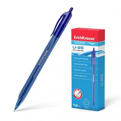 """Ручка шариковая Erich Krause """"U-28"""" 1мм., автоматическая, синяя (33528)"""