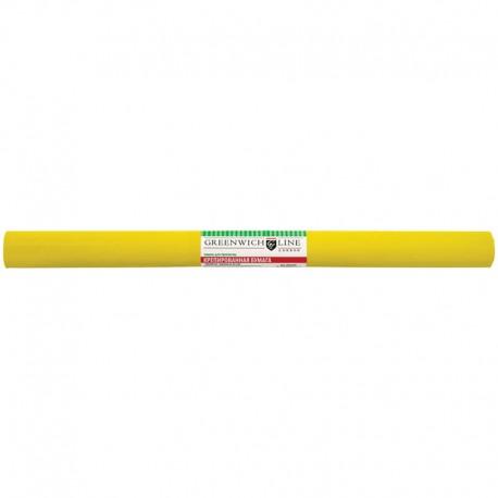 Цветная бумага крепированная Greenwich Line 50*250см. жёлтая, в рулоне (CR25012)