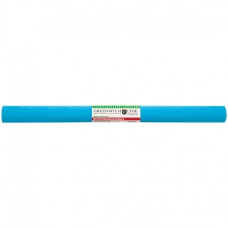 Цветная бумага крепированная Greenwich Line 50*250см. голубая, в рулоне (CR25046)