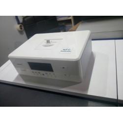 Радиобудильник Song Ruitai D9 c док станцией для телефона (Micro, Type-C, Lightning) белый