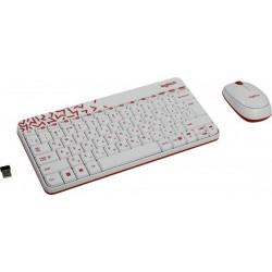Комплект (клавиатура+мышь) Logitech MK240 (920-005791/920-008212) мини,радиус действия до 10м,White беспроводной