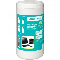Салфетки чистящие влажные OfficeClean, универсальные, в тубе, 100шт. (248262)