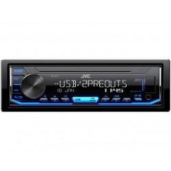 Автомагнитола JVC KD-X176 1DIN, 4x50Вт, MP3, FM, USB, AUX, съемная панель