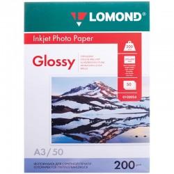 Бумага Lomond 200 г/м2, А3, глянцевая, 50л. (0102024)