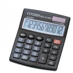 Калькулятор CITIZEN SDC-812BN 12 разряд, черный