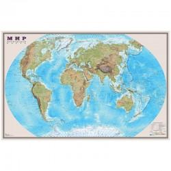 """Карта """"Мир"""" физическая DMB, 1:25млн., 1220*790мм, матовая ламинация ОСН1223992"""