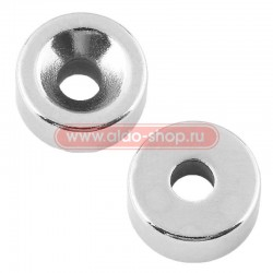 Неодимовый магнитный диск 10х3 мм с зенковкой 7х3,5 мм (упаковка 6 шт.)