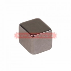 Неодимовый магнит куб 5х5х5мм сцепление 0,95 кг (упаковка 16 шт) Rexant