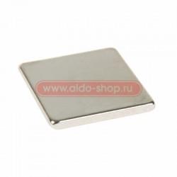 Неодимовый магнит прямоугольник 10х10х1 мм сцепление 0,6 кг (Упаковка 10 шт) Rexant