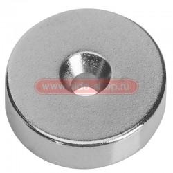 Неодимовый магнитный диск 30х5 мм с зенковкой 10х5,5 мм (упаковка 1 шт.)