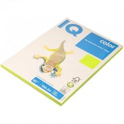 Бумага цветная А4 100л. IQ COLOR Неон NEOGN зеленый (11057)