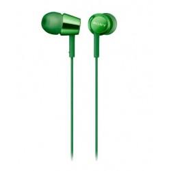 Наушники Sony MDR-EX155 вставные, 16Ом, 103дБ, кабель 1.2м, Green