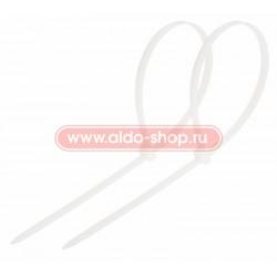 Стяжка кабельная REXANT 250х3,6 белая/100шт.