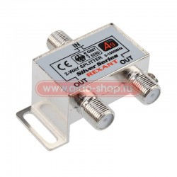 Делитель сигнала на 2 TV REXANT /5-1000Мгц/ + 3 F гайки Silver