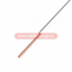 Провод монтажный ПГВА медный Rexant 1.0мм /белый