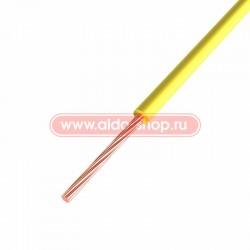 Провод монтажный ПГВА медный Rexant 1.0мм /желтый