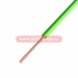 Провод монтажный ПГВА медный Rexant 1.0мм /зеленый