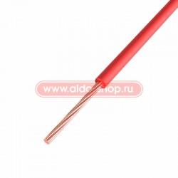 Провод монтажный ПГВА медный Rexant 1.0мм /красный