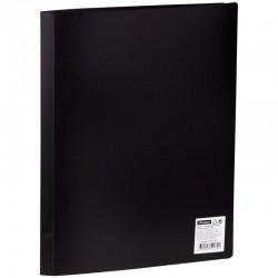 Папка с 10 вкл. Спейс 9мм. 500мкм. черная (F10L1 279)