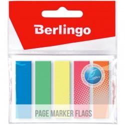 Закладки BERLINGO 45*12мм. 25л. 5 цветов (LSz 45121)