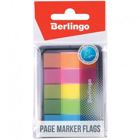 Закладки BERLINGO 45*12мм. 20л. 5 цветов (LSz 45101)