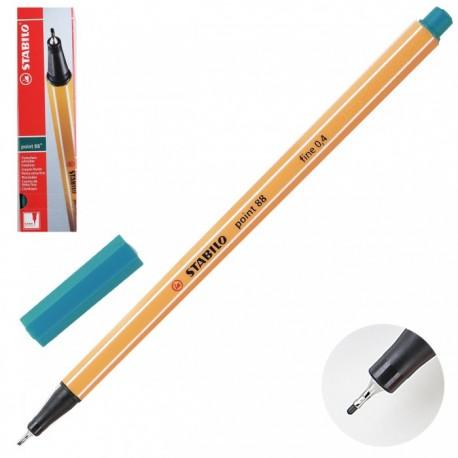 Ручка капиллярная STABILO зеленая бирюза 88/53 0,4мм