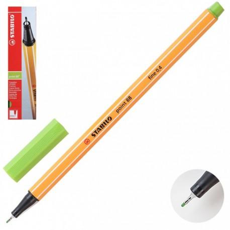 Ручка капиллярная STABILO свет. зеленый 88/33 0,4мм