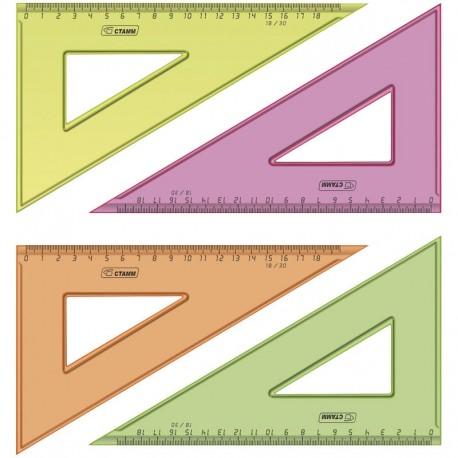 Треугольник СТАММ 30°, 18см ассорти (ТК47)