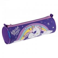 "Пенал-тубус Berlingo ""Magic unicorn"", полиэстер PM04720"