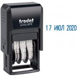 Датер месяц буквами оттиск 20*4мм синий TRODAT 4810