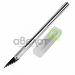 Нож с перовым лезвием 5 запасных лезвий Rexant