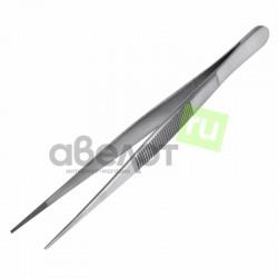 Пинцет прямой, узкий, рифленый 145 мм ПРОФИ