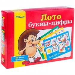 """Игра настольная Лото, Step Puzzle """"Буквы-цифры"""" 80301"""