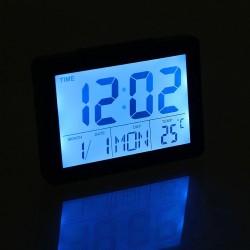 Часы-будильник LuazON LB-03 3*ААА, LED подсветка, дата/часы/температура, влажность, чёрные 1163451