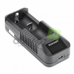 Зарядное устройство REXANT I1 для Li-ion 18650, 26650, 14500, 18500, 17670, 17500, 16650, 16340.