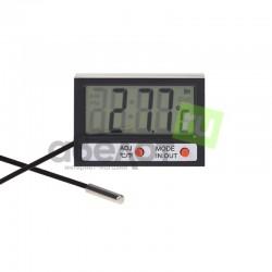 Термометр комнатно-уличный с часами REXANT, внутр. -10°..50°, наруж. -50°..70°, 1*LR44